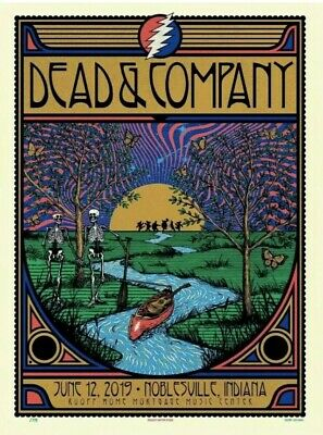DEAD AND COMPANY poster 2019 Summer Tour Noblesville Deer Creek Ruoff
