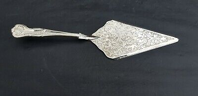 A Vintage Silver Plated Cake Slice With Beautiful Engraved Patterns.very ornate.