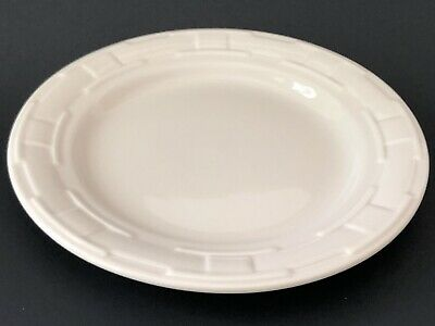 """Longaberger Pottery Lunch Plate Ivory Woven Traditions 9"""" Luncheon USA Classic"""