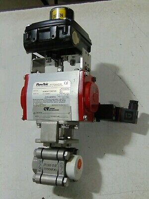 "FlowTek Automator Stainless Steel 3/4"" Ball Valve With Actuator and Indicator"