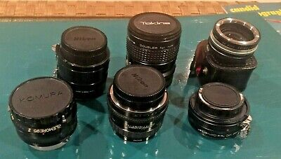 Huge lot (6) Camera Lenses for 35mm