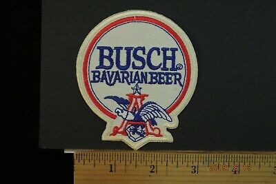 """Busch Bavarian Beer  EMBROIDERED IRON-ON PATCH 3x3.5"""""""