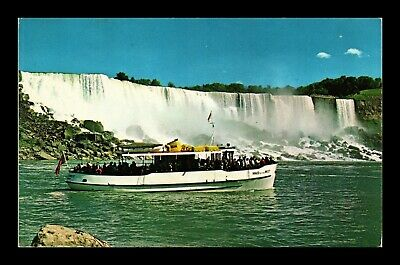 Dr Jim Stamps Maid Of The Mist Niagara Falls Canada Chrome Postcard