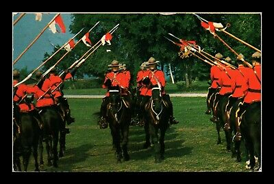 Dr Jim Stamps Royal Canadian Mounted Musical Ride Canada Postcard