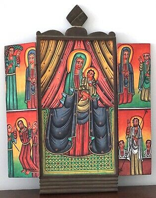 Ethiopian Icon Virgin Mary Jesus Christ Orthodox Christianity Storyteller