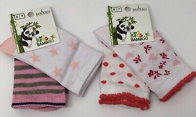 4 Pairs Girl's Kids Bamboo Soft Anti Bacterial Exclusive Socks 6-7 Years