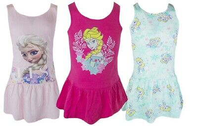 Girls Disney Frozen Elsa & Anna  Summer Holiday Sleeveless Dresses Ages:2-10year