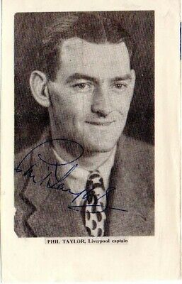 Phil Taylor Former Bristol Rovers And Liverpool Player & Manager Signed Picture