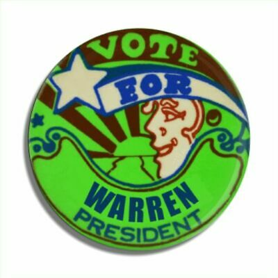 "Warren  2020 3"" Button- Limited Edition Of 6"