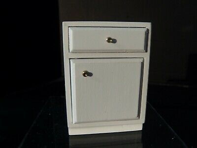 "Dollhouse ""Small White Kitchen Cupboard"""