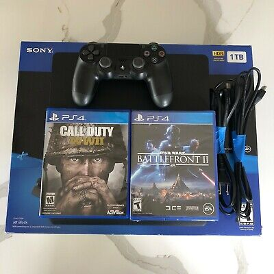 Sony PlayStation 4 Star Wars Battlefront, 1TB, Black Console, includes COD game