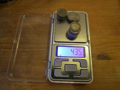 SILVER 3d COIN COLLECTION - 43.5g - scrap or collect - 31 x 1931 3d three pence