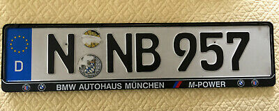 BMW Autohaus Munich, Germany, Dealer License Plate and Holder