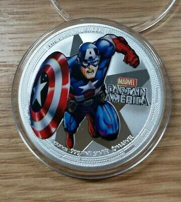 Captain America, The First Avenger, 1 Oz Coin Great Gift For A Marvel Fan.