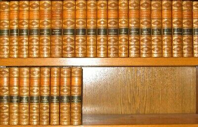 LEATHER Set;SIR WALTER SCOTT Works!THE WAVERLY NOVELS! MASSIVE library gift RARE