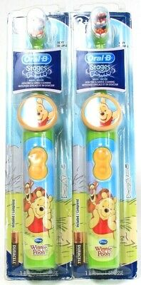 2 Ct Oral B Stages Disney Winnie The Pooh Effective Gentle Power Soft Toothbrush