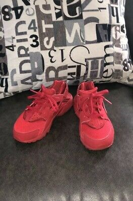 8fd4fb0ba2 Little Kids Unisex Size 13 Red Nike Huarache Run Shoes Excellent Condition!
