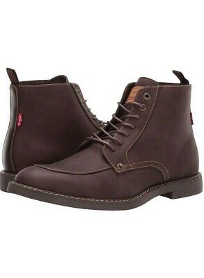 7cc7cf9c Levis Men's Brown Work-Inspired Leather Boots, Size 10 Norfolk Casual Shoe,  NEW