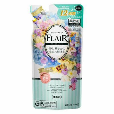 Kao Japan FLAIR FRAGRANCE Laundry Fabric Softener Flower & Harmony 480ml Refill