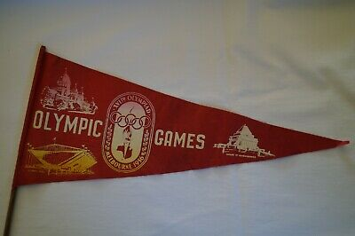 Olympic Games Collectable 1956 Melbourne Original Vintage Flag Pennant