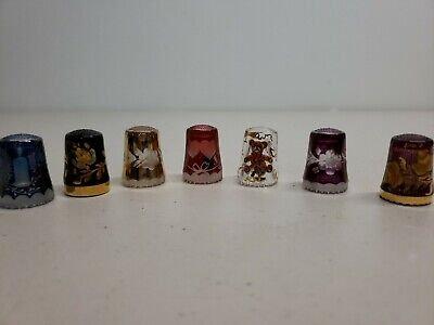 THIMBLE CRYSTAL  Lot Of 7 ULLMANNGLASS? W GERMANY