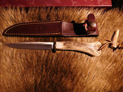 """NEW MUELA Gred-14 5 1/2"""" Fixed Blade Hunting Knife With Leather Sheath"""