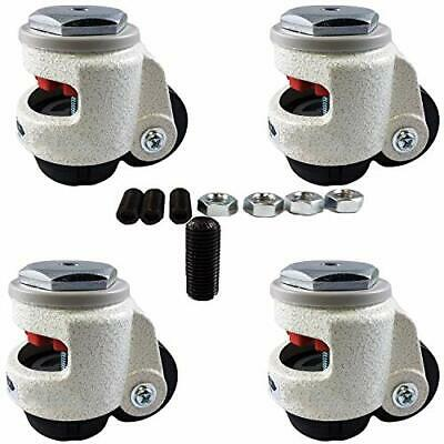 CasterHQ Wheel Master - Retractable Leveling Machine Stem Casters - 4 Pack - 2,4