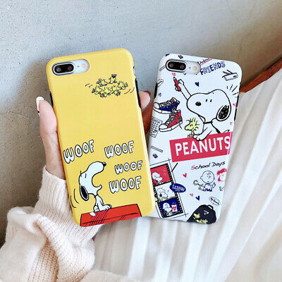 Cute Cartoon Snoopy TPU Silicone Phone Case Cover For iPhone 6s 7 8 X XS XR Max