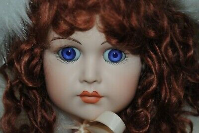 """Antique French Jumeau Doll Reproduction 21.5"""" Beautiful Outfit"""