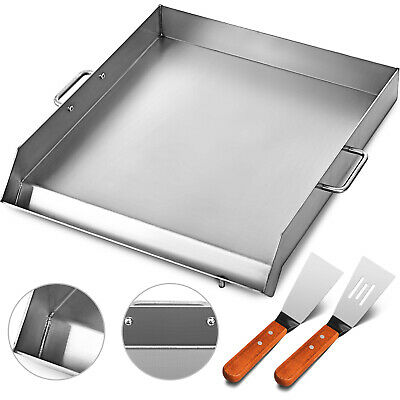 "18"" x 16"" Stainless Steel Griddle Flat Top Grill For Triple Griddle Cookware"