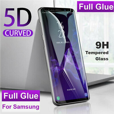 Full Glue Adhesive Cover Tempered Glass Screen Protector For Galaxy S8 S9 Plus