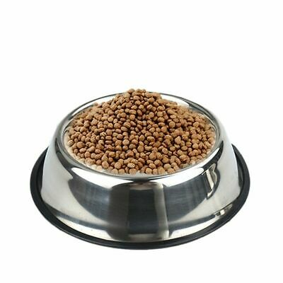 Durable Pet Bowl Puppy Dog Cat Dish Stainless Steel Water Food Feeder DECOR R8S2