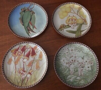 May Gibbs - Snugglepot and Cuddlepie, Gumnut Babies. Limited Edition Plates x 4.