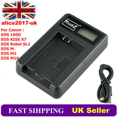 USB Battery Charger LP-E12 For Canon EOS 100D EOS M EOS M2 M10 KISS X7 Rebel SL1