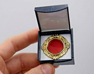 New Goldplated Relic Theca, Reliquary Theca with Crystal Window & Display Case-B