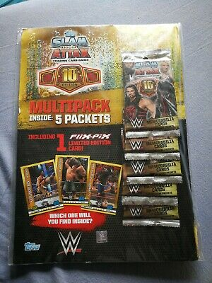 WWE Topps Slam Attax 10th Edition Trading Card Starter Pack - Brand New sealed
