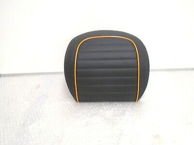 Vespa GTS GTV Top Box Passenger Back Rest Pad Black / Orange New 623029M1SS