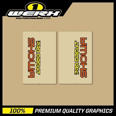 Showa Pro Circuit Evo-Mx Works Replica Upper Fork Decals - Clear