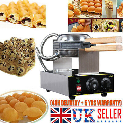Eggettes Cake Maker Machine Electric Stainless Egg Bubble Waffle Baking icecream