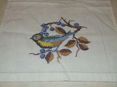 Completed Cross Stitch - Bird
