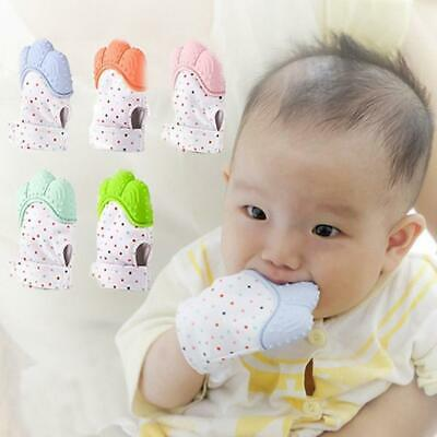 Safety Silicone Baby Teether Pacifier Glove Training Sound Teething EA9