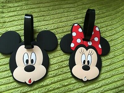 Primark MICKEY MINNIE MOUSE bow disney LUGGAGE TAG NEW Travel Suitcase