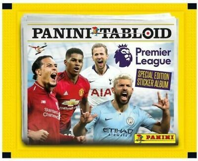 5x Panini Tabloid Collection Sticker Packs (5 Sticker Packs Supplied)