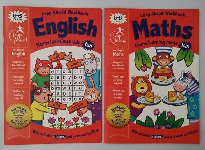Leap ahead English & Maths Ages 5-6, 2 set book collection, New Addition