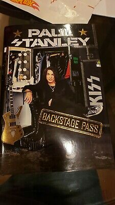 Paul Stanley Signed BACKSTAGE PASS Hardcover Book Autographed KISS 1ST EDITION
