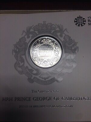 2013 Royal Christening Baby Prince George of Cambridge £5 Five Pound Coin Pack