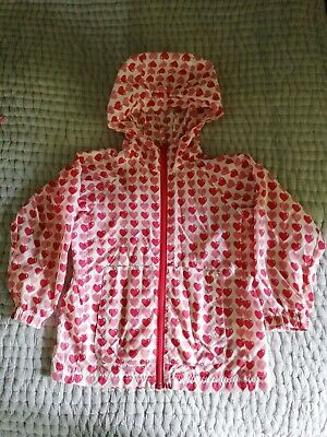 Girls Pink and red Raincoat Next Age 5-6