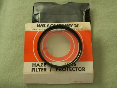 55mm HAZE FILTER IN ORIGINAL PACKAGING MADE FOR RESALE BY WILLOUGHBY'S,N.Y.C.