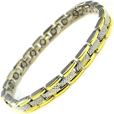 MAGNETIC BRACELET 21 MAGNETS carpal tunnel arthritis pain relief Womens Ladies