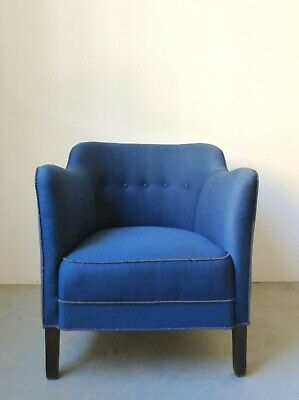 Vintage Danish club / arm chair - 1940s/50s - Reupholstery available